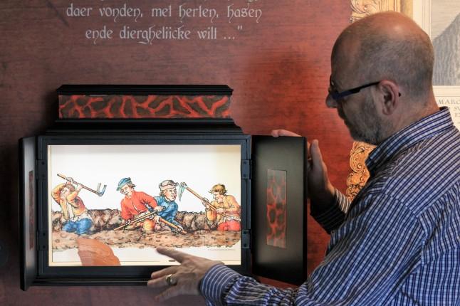 Archeologisch museum Velzeke - binnen - collectie - 015 Marcus - evocatie