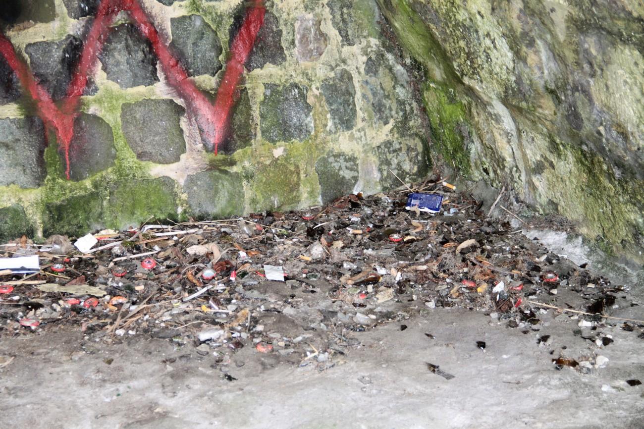 sluikstorten - onder de brug achter het kasteel - IMG_5490
