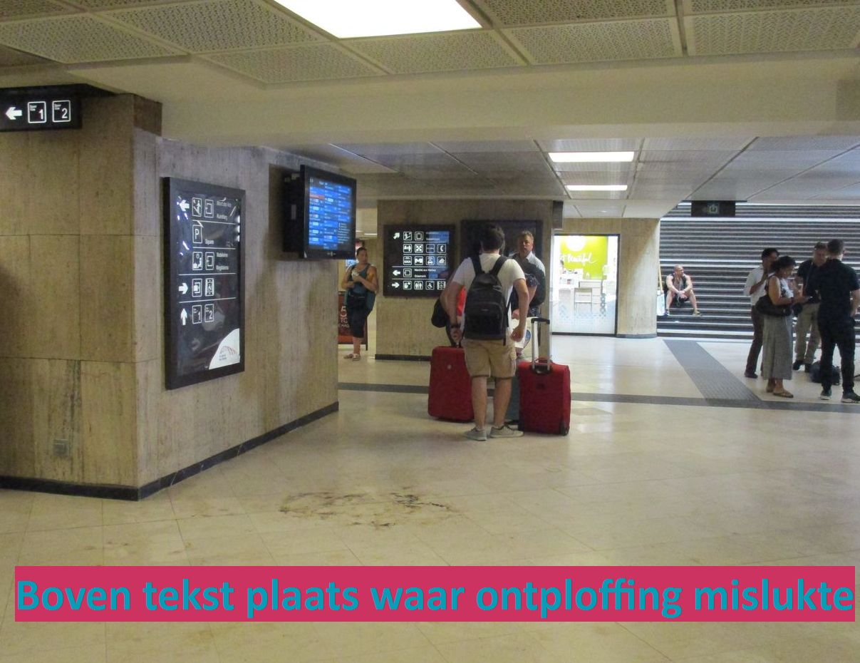 20170620 - aanslag brussel centraal - Plaats waar kleine bom ontplofte