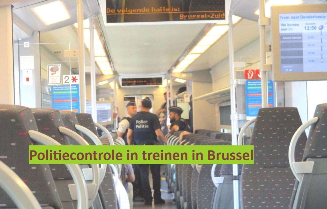 20170620 - aanslag brussel centraal - Politie-trein