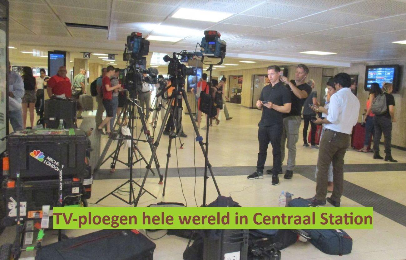 20170620 - aanslag brussel centraal - TV-ploegen in Brussel Centraal
