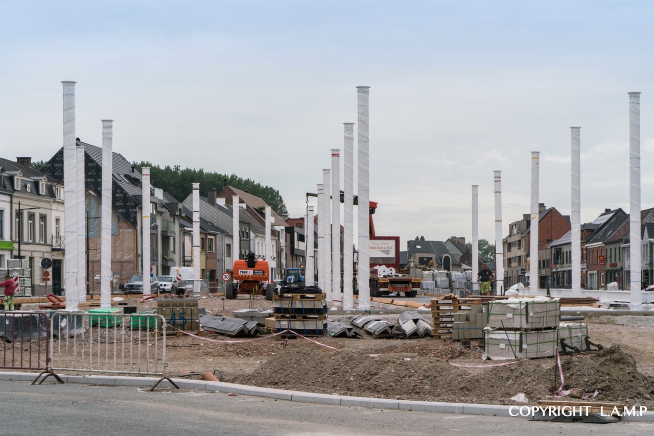 LAMP Sint-Lievens-Houtem markthal opbouw