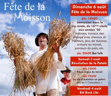 la hamaide oogstfeest affiche Moisson 2017 cut