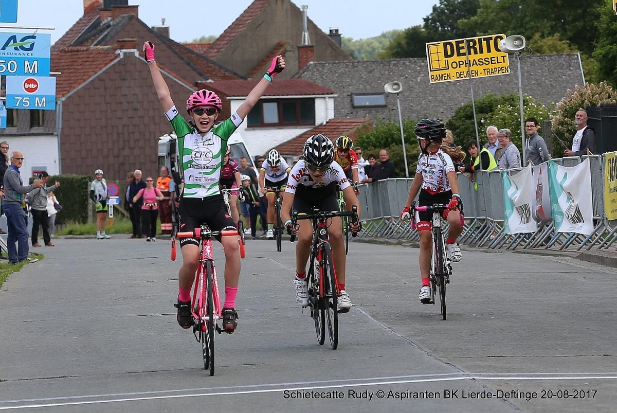Wielrennen: Verslag BK aspiranten in Lierde