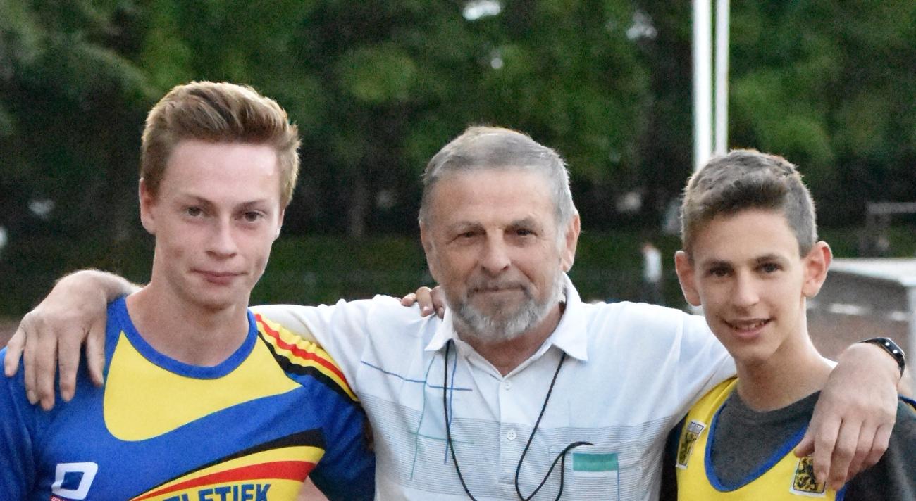 2017 08 18 Zele PK Steeple Bjarne, Luc en Lucas